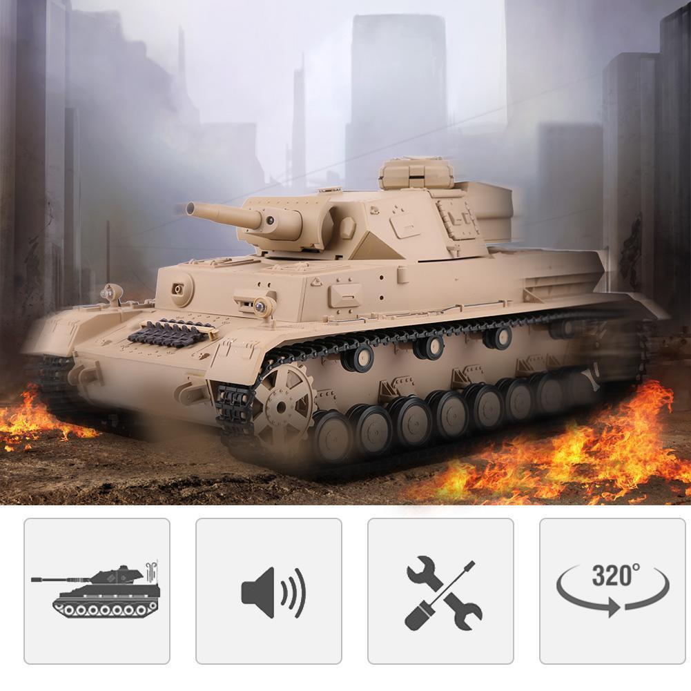 Heng lungo 3858-1 - PANZER IV RC BATTLE  TANK 1 16 2.4G simulazione militare modellololo   BM  prima i clienti