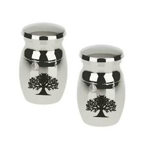 2pcs-Tree-of-Life-Stainless-Cremation-Urn-Ash-Memorial-Container-Pendant-Silver