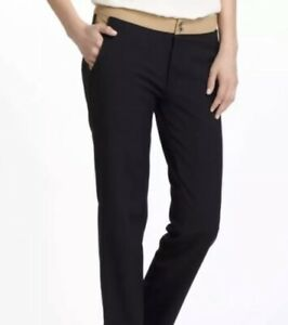 Cartonnier-Anthropologie-Charlie-Ankle-Pants-Black-Tan-Colorblock-Size-12-A552