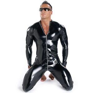 Patrice-Catanzaro-Sweety-Combinaison-sexy-homme-en-vinyle-noir-brillant