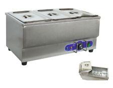 Free Shipping New 110v Stainless 3 Pot Bain Marie Buffet Food Desktop Warmer