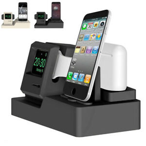 outlet store 53a3e 0a1fb Details about Charging Dock Station Stand Holder Mount For Apple Watch  AirPods iPhone X 8 7 6S