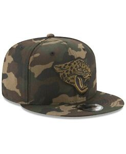 quality design 6a1fe 2aa60 Image is loading Jacksonville-Jaguars-NFL-Camo-on-Canvas-9FIFTY-New-