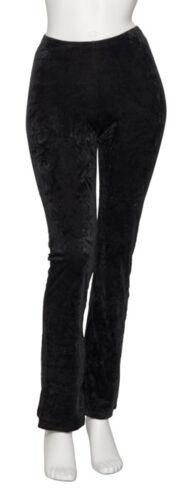Ladies Girls Black Velour Crushed Velvet Dance Jazz Pants Trousers By Katz KJPV1
