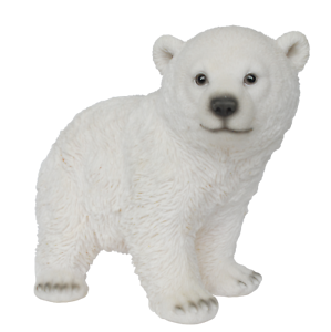 Playful Polar Bear standing  Ornament//Decoration//Gift Vivid Arts Plant Pal