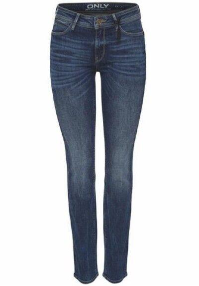 Jeans Sisse W25-w32 L30 Nuovo Nuovo Nuovo Donna Slim Pantaloni Stretch Blu Scuro Denim Usato 93943b