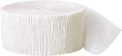Blanco papel crepé Streamer 81ft Larga-Baby Shower Decoraciones