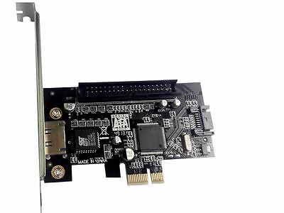 PCI-E Express to 1xSATA+1xESATA+1 Port IDE 40Pin Raid Combo Card JMB363 chip