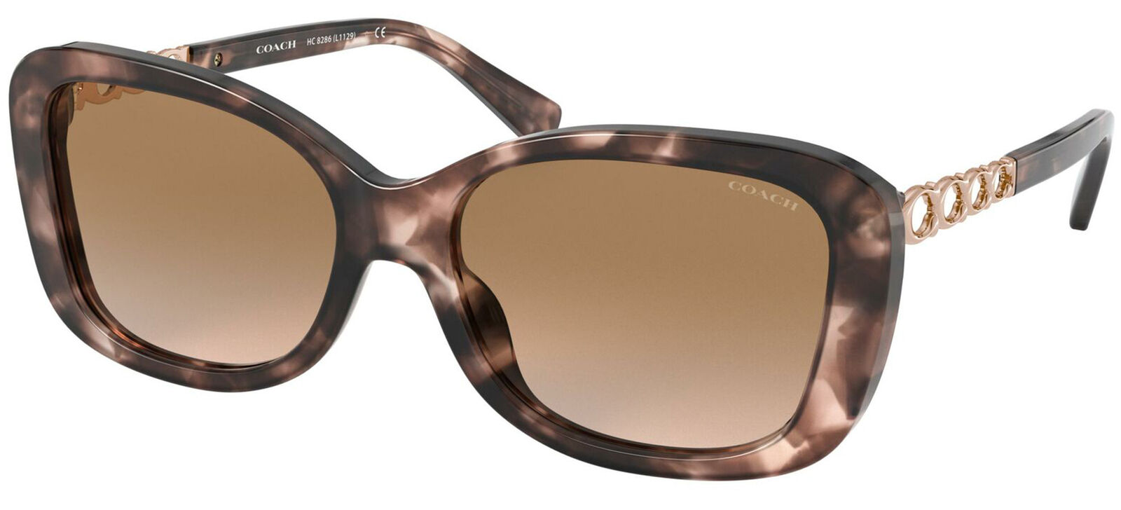 Coach HC 8286 Pink Havana/Light Brown Shaded 57/17/140 women Sunglasses