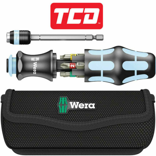 7 Piece Wera 1342101-1 Limited Kraftform Kompakt 20 Stainless Screwdriver Set