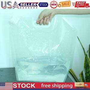 Portable Folding Clear Water Bag Camping Survival Kit Supply 5L