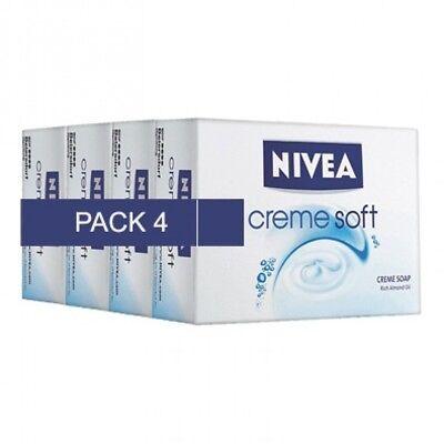 Nivea Creme Soft Cream Soap Bar (Pack of 4) 75gm x 4 | eBay