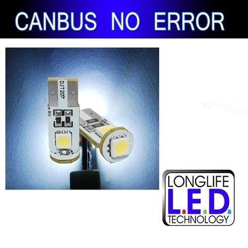 10 AMPOULE T10 W5W LED SMD BLANC XENON POUR PEUGEOT 307 ECLAIRAGE INTÉRIEUR