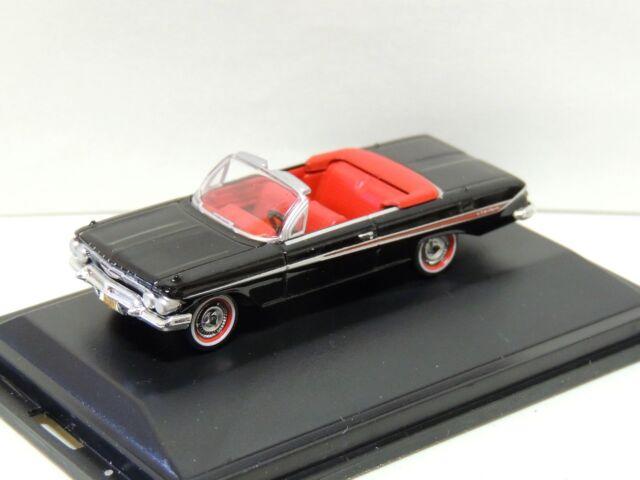 Oxford 87ci61001 CHEVROLET IMPALA 1961 Conv TUXEDO BLACK 1//87 h0 traccia