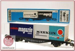H0-1-87-ho-trenes-maqueta-Marklin-84670-vagon-mercancias-AC-magazin-1990