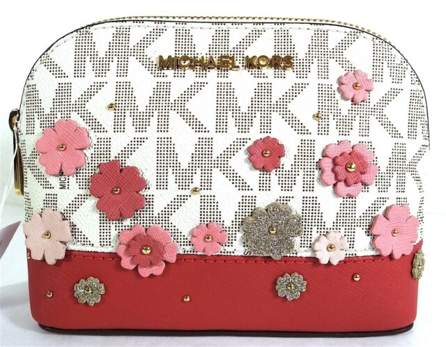 Buy michael kors emmy travel pouch make up case bags vanilla