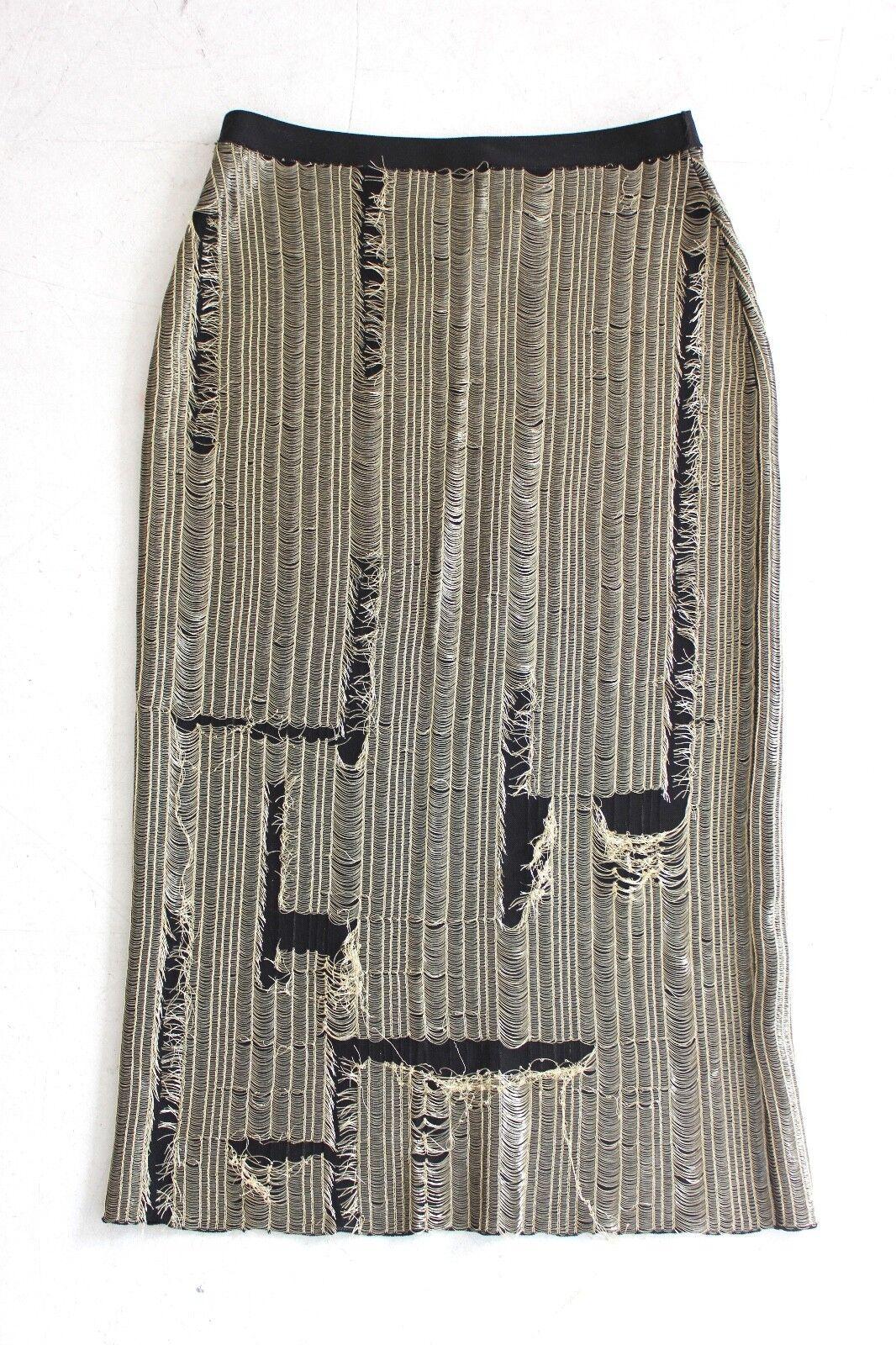 Maison Margiela Distressed Skirt gold Chain Midi length - Size Small