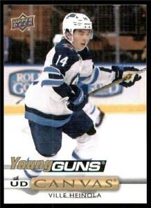 2019-20-Upper-Deck-Series-1-Canvas-Young-Guns-C96-Ville-Heinola-Winnipeg-Jets