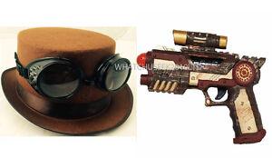 Vintage-Victorian-Steampunk-Cyber-Goggles-Hat-amp-Toy-Guns-Punk-Gothic-Fancy-Dress