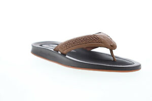 Tommy-Bahama-Shallows-Edge-TB8M00036-Mens-Brown-Leather-Flip-Flops-Sandals-Shoes