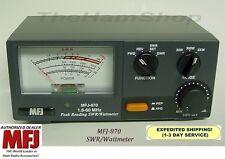 MFJ 870 1.6 - 60 MHz, Peak Reading SWR & Wattmeter, Range 1 - 3000 Watts, NEW