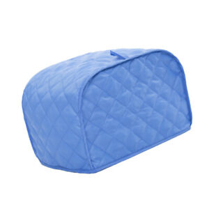 Blue-Grid-4-Slice-Cover-Appliance-Oven-Cover-Protector-Dust-Proof