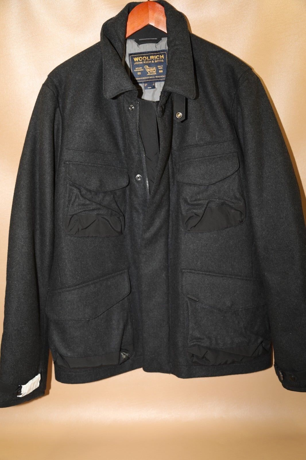 168  WOOLRICH Wool Blend Car Coat Größe L  New with no tags