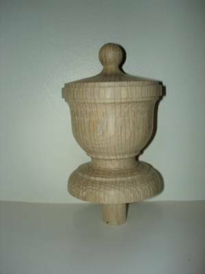 WOOD FINIAL UNFINISHED FOR NEWEL POST FINIAL OR CAP  Finial #18