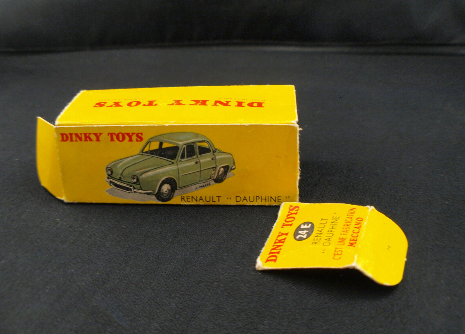 Boite seule Dinky Dinky Dinky Toys F n° 24E renault Dauphine Box only | Finement Traité