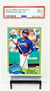 2018-Topps-Archives-Braves-RC-Star-RONALD-ACUNA-JR-Rookie-Baseball-Card-PSA-9