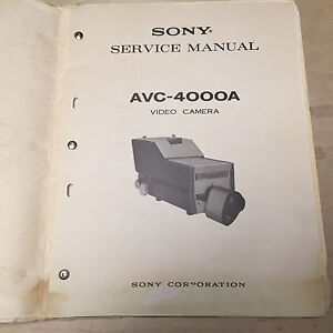 Sony-Service-Manual-for-the-AVC-4000A-Video-Camera-Repair
