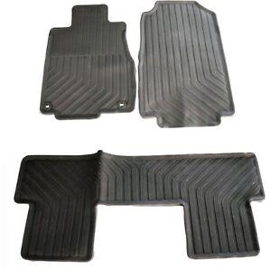 honda crv oe factory style foot floor rubber mats  season weather ebay