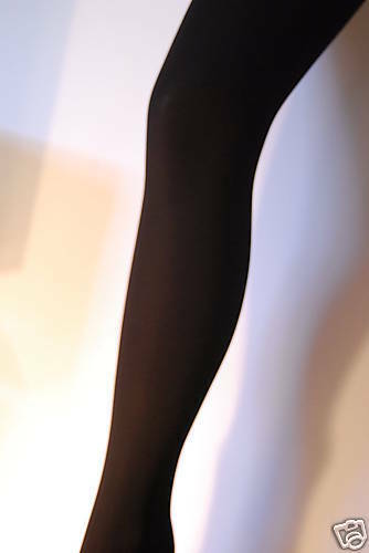 40 Deniers Collants Opaque S M L XL Noir Rouge Violet Jade Fuchsia