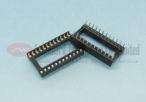 Original-New-DIP24-DIL24-PIN-IC-SOCKET-WIDE-x-10pcs