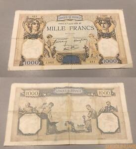 1000 Francs Cérès Mercure Type 1927 - 7/7/1938 J.3522 Ttb