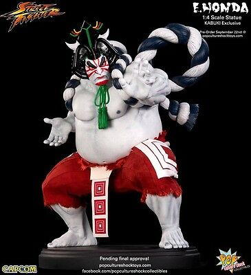 POP CULTURE SHOCK E HONDA 1//4 STREET FIGHTER STATUE sideshow NEW SEALED