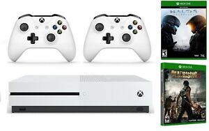 Xbox-One-S-1TB-Console-bundle-Halo-5-Dead-Rising-3-Extra-Wireless-Controller