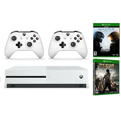 Xbox One S 1TB Console bundle - Halo 5, Dead Rising 3, Extra Wireless Controller