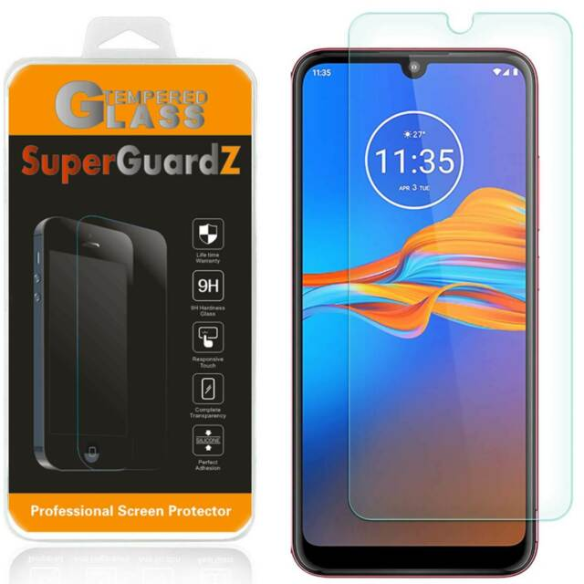 SuperGuardZ Tempered Glass Screen Protector Guard For Motorola Moto E6 Plus