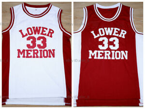 Kobe-Bryant-33-Lower-Merion-High-School-Men-039-s-Basketball-Jersey-All-Stitched