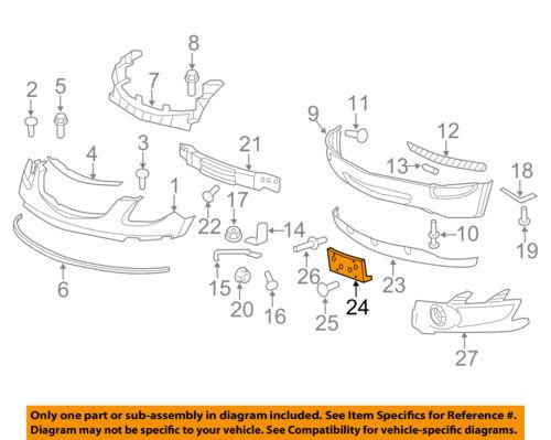 2008-2012 BUICK ENCLAVE FRONT LICENSE PLATE HOLDER BRACKET NEW GM #  25827947