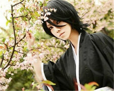 BLEACH Kuchiki Rukia wig cosplay 45cm black wig+wig cap