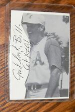 COT DEAL SIGNED AUTOGRAPHED CARD SIZED CUT PICTURE KANSAS CITY A'S ATHLETICS