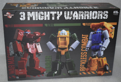 Transformers FinalVictory FV Three warriors Wardog Huff Brawn Toysets Specials .