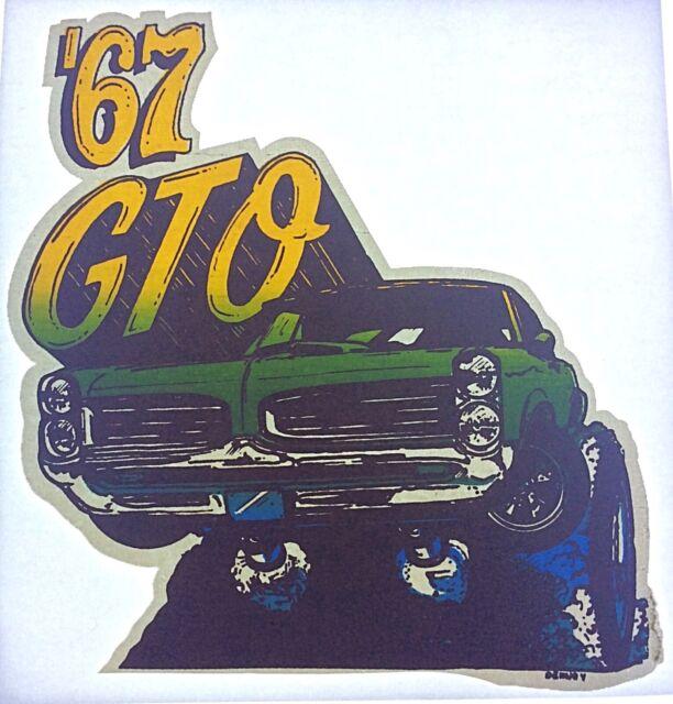 Vintage GTO Pontiac Mini Iron On Transfer NOS