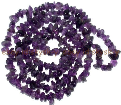 """Jewelry Making 6-7 mm Freeform Chips Améthyste genstone Loose Beads Strand 32/"""""""
