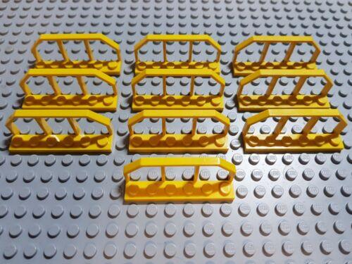 Lego Eisenbahn 9 12 v 6583 1x6x2 geländer zaun handtrail gelb 10 Stück
