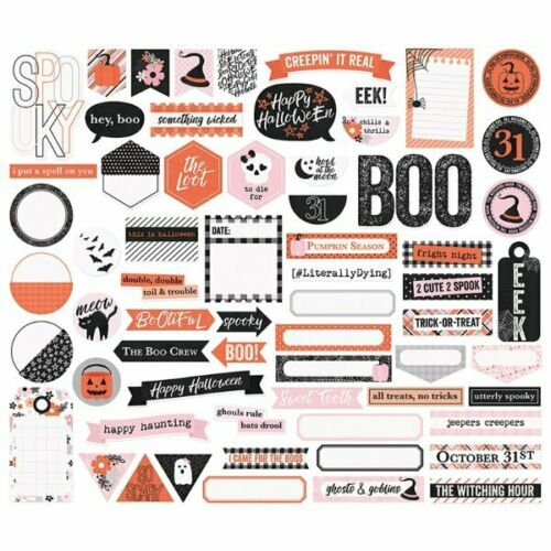 Journaling Happy Haunting Simple Stories Halloween Bits /& Pieces