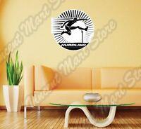 Hurdling Running Athletics Obstacle Racing Wall Sticker Interior Decor 22x22