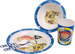 """Kinder Geschirr Pirat Frühstücks-Set """"Schatzsuche Schatztruhe"""